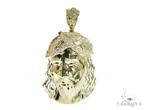 Jesus Gold Pendant 49711 Metal