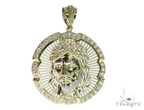 Jesus Gold Pendant 49701 Metal