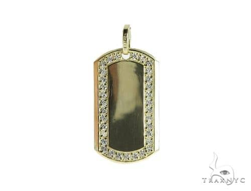 10k Yellow Gold Dog Tag 49740 Style