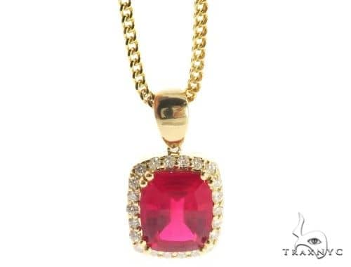 Lepus Diamond Pendant Chain Set 49157 Metal