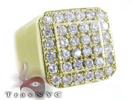TraxNYC Heavy 14k Yellow Gold Ring Stone