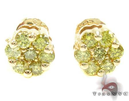 Canary Cluster Earrings レディース ダイヤモンドイヤリング