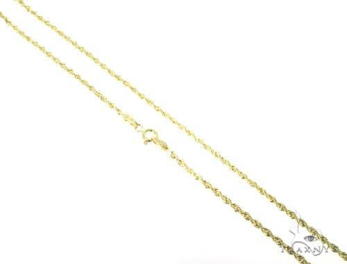 10k Yellow Gold Rope Chain 16 Inches 2mm 1.4 Grams 49778 Gold