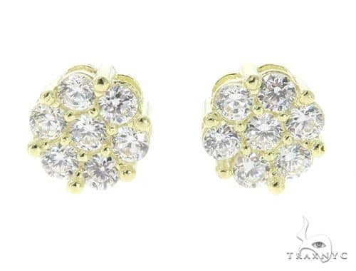Cluster Gold Earrings 49796 10k, 14k, 18k Gold Earrings