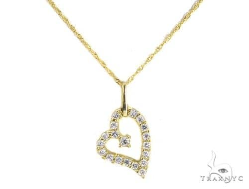 Heart Gold Necklace 49816 Gold