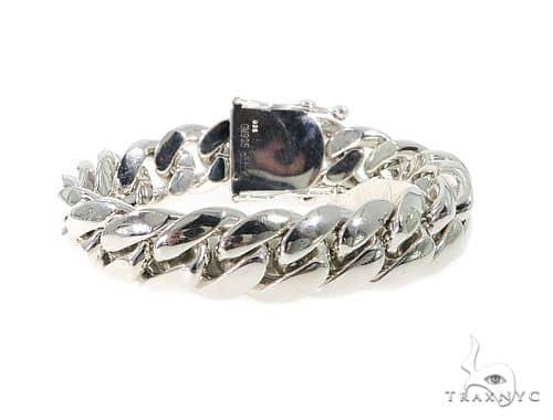 Miami Cuban Silver Bracelet 49855 Silver