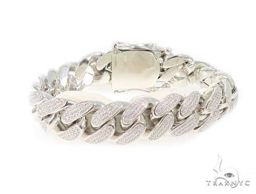 Miami Cuban Silver Bracelet 49856 Silver