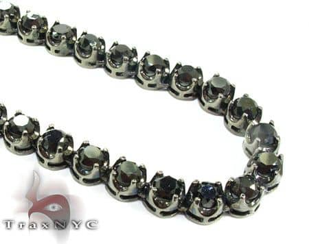 Black Diamond Chain 34 Inches, 6mm, 88.5 Grams Diamond