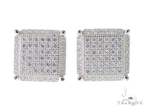 Silver Earrings 49906 Metal