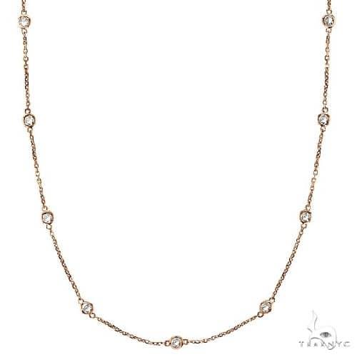 Diamonds by The Yard Bezel-Set Necklace in 14k Rose Gold Diamond