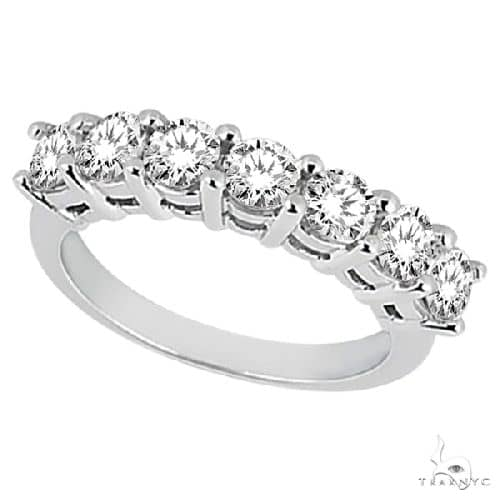Semi-Eternity Diamond Wedding Band in 14k White Gold Anniversary/Fashion