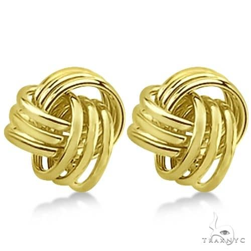 Love Knot Stud Earrings 14K Yellow Gold (10.5mm) Metal