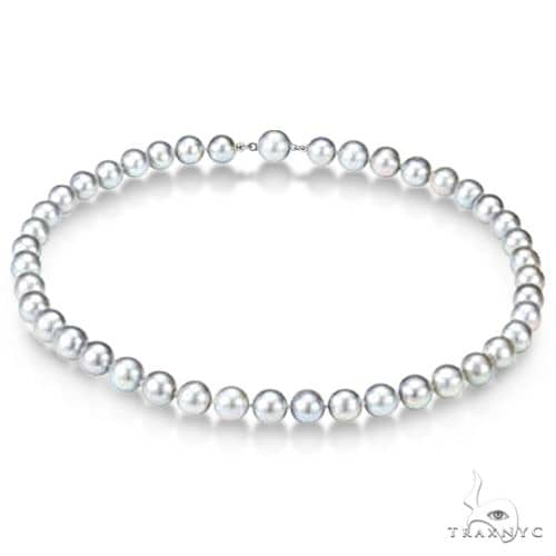 Freshwater Cultured Pearl Strand Necklace 18 inch (10-11mm) Stone