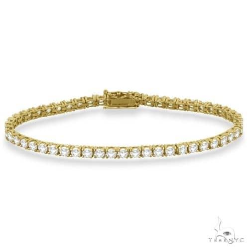 Eternity Diamond Tennis Bracelet 14k Yellow Gold Diamond