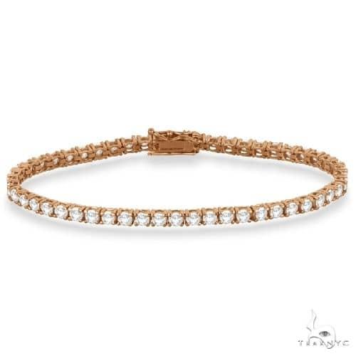 Eternity Diamond Tennis Bracelet 14k Rose Gold Diamond