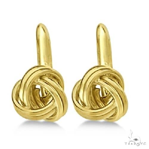 Love Knot Lever Back Earrings 14K Yellow Gold (8.00mm) Metal
