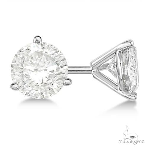 3-Prong Martini Diamond Stud Earrings Platinum G-H, VS2-SI1 Stone