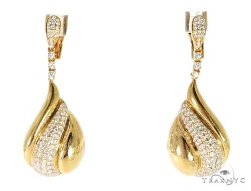 Waterdrop Diamond Earrings 56501 Stone