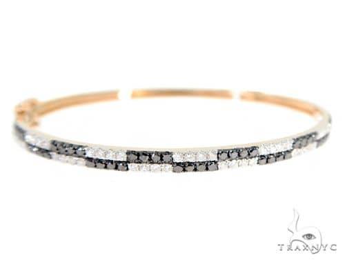 Black and White Bangle Bracelet 56497 Diamond