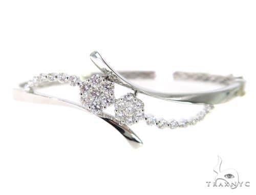 Flower Diamond Bangle Bracelet 56486 Diamond
