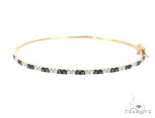 Black and White Diamond Bangle Bracelet 56487 Diamond