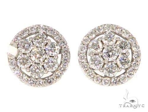 Prong Diamond Earrings 56507 Stone
