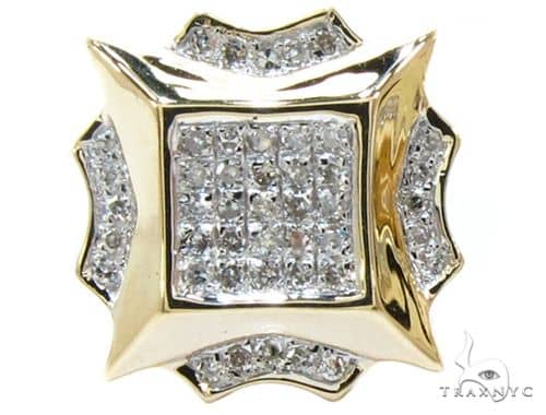 Yellow Gold Round Cut Prong Diamond Single Earring 56619 Stone