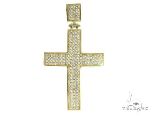10K Yellow Gold Cross 56655 Gold
