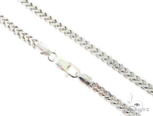 Franco Silver Chain 30 Inches 4mm 60.30 Grams 56776 Silver