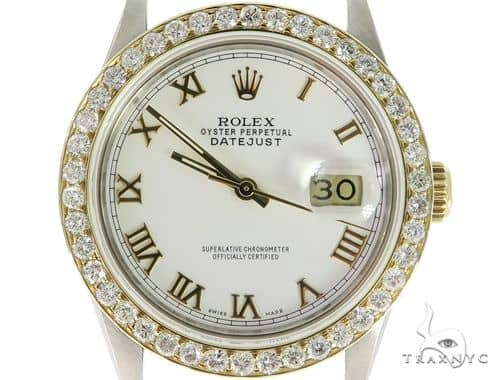 Rolex DateJust Steel and Yellow Gold 45577 Diamond Rolex Watch Collection