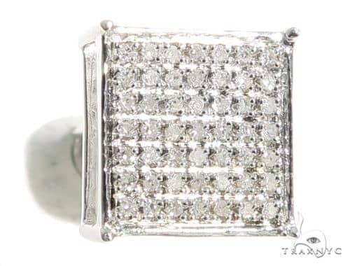 Prong Diamond Single Square Earring 56794 Stone