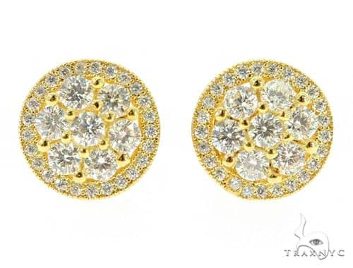 Cluster Silver CZ Earrings 45581 Metal