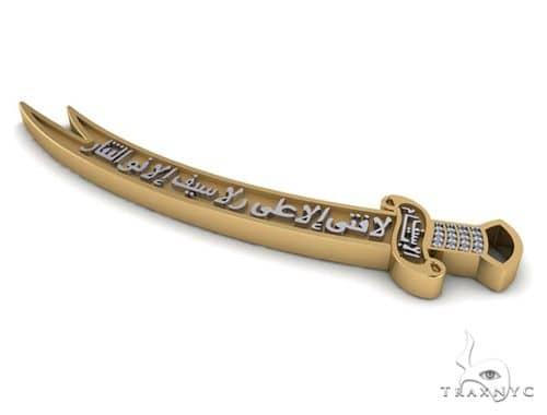 Custom Diamond Sword Pendant 45584 Metal