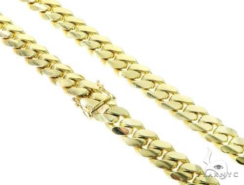 10K Miami Cuban Chain 30 Inches 12mm 263.4 Grams 45589 Gold