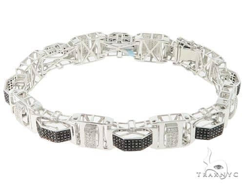 .925 Silver Prong Diamond Bracelet 56861 Diamond