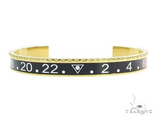 Brass Cuff Mariner Bracelet 45596 Stainless Steel