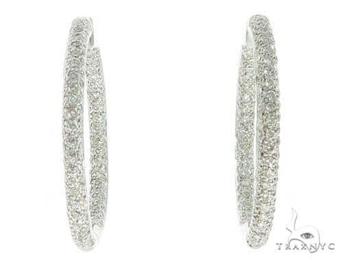 Three Row Diamond Hoops 45603 Stone