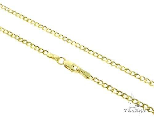 Cuban Curb 10K YG Chain 24 Inches 2mm 2.2 Grams 56876 Gold