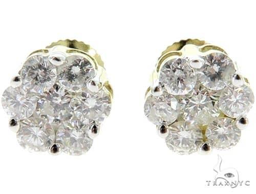 Prong Diamond Cluster Earrings 56909 Stone