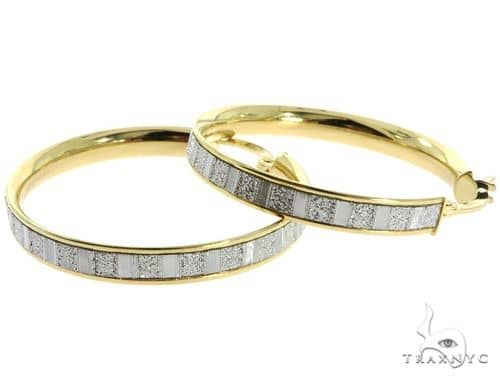 14K Yellow Gold Hoop Earrings 56917 10k, 14k, 18k Gold Earrings