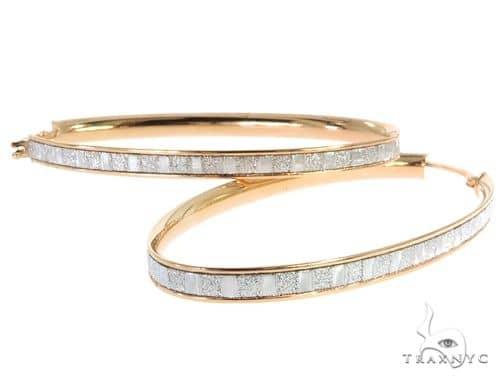 Rose 14K Gold Hoop Earrings 56919 10k, 14k, 18k Gold Earrings
