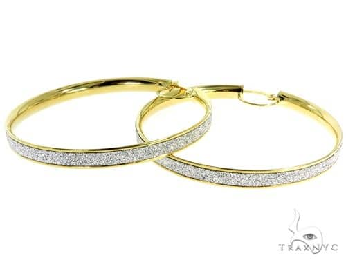 14K Yellow Gold Hoop Earrings 56921 10k, 14k, 18k Gold Earrings