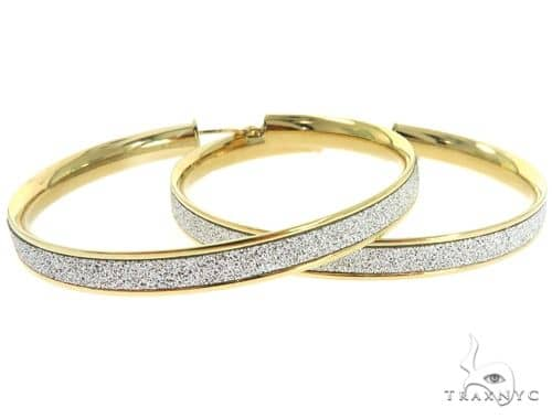 14K Yellow Gold Hoop Earrings 56923 10k, 14k, 18k Gold Earrings