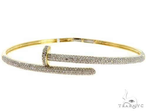 10K Yellow Gold Prong Diamond Bracelet 56978 Diamond
