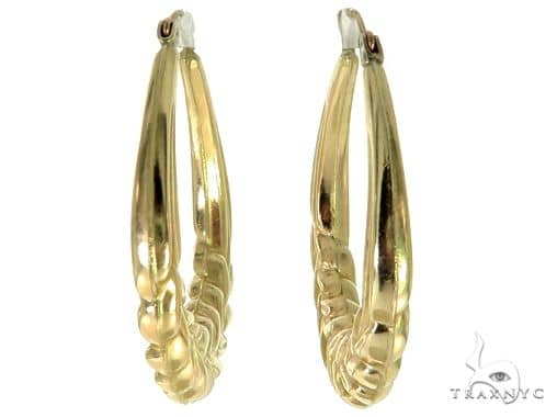 10K Yellow Gold Hoop Earrings 56984 Style