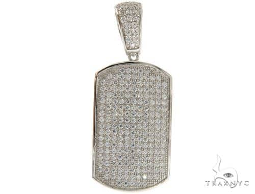 Silver Dog Tag Pendant 56996 Metal