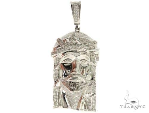 Silver Jesus Pendant 56997 Metal
