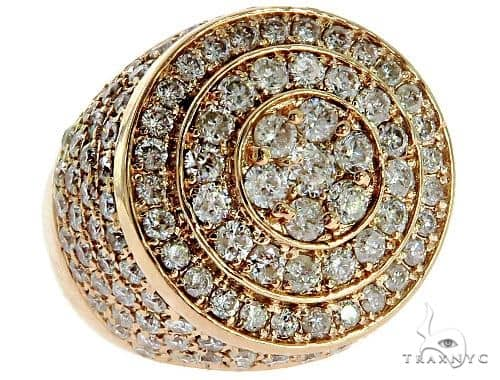 Mens Rose Gold Mayan Pinky Ring 57041 Stone
