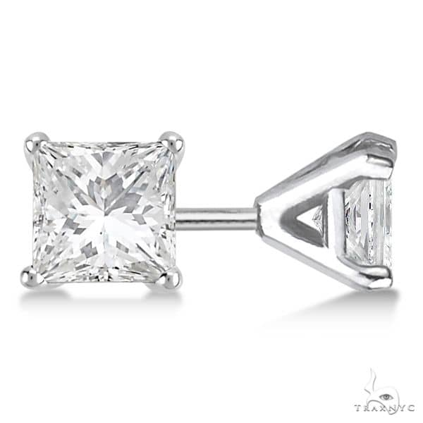 Martini Princess Diamond Stud Earrings 14kt White Gold H-I, SI2-SI3 Stone