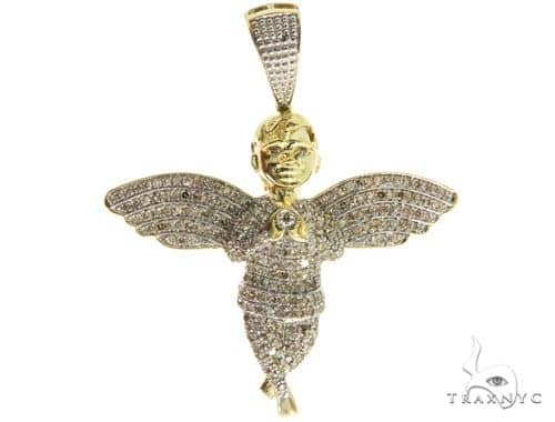 Micro Pave Diamond Angel Pendant 57064 Metal